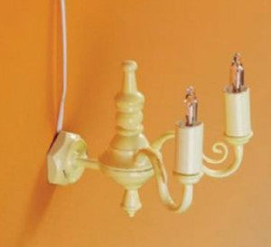 2 Arm Candle Cream Wall Light