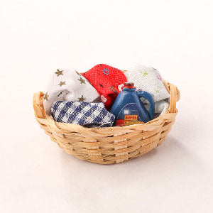 Basket Of Washing And Detergent