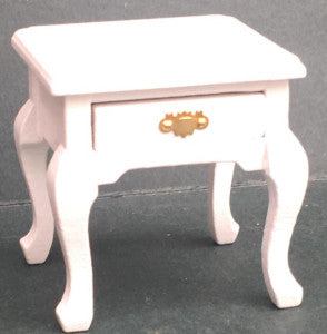 Bedside Table With Drawer White