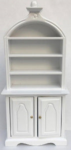 Shelf Unit With Domed Top And Detail White