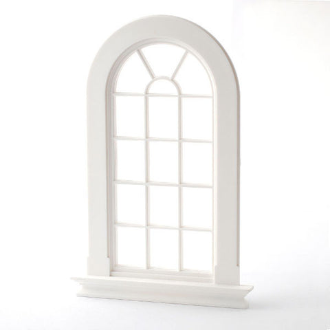 White Plastic Arch Window
