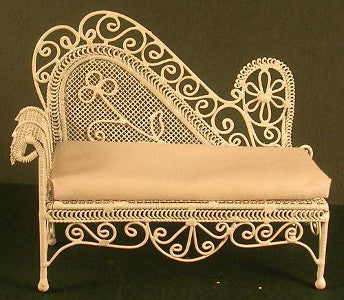 White Wire Chaise Lounge