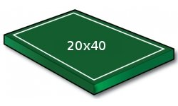 20x40 yd Small-sided Lacrosse - Port-a-field