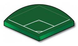 90 Degree Fast Plastic Ball Field - Port-a-field