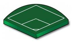 90 Degree Fast Plastic Ball Field with Outfield - Port-a-field