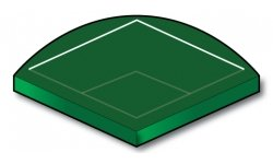Fast Plastic Ball Outfield Line - Port-a-field