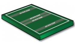 NFLFlag Flag 30x50 yd with 5 yd endzones - Port-a-field