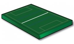 Single 50 Meter Touch Rugby Crossing Line - Port-a-field