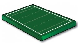 Standard Flag Football Field 40x100 yd - Port-a-field