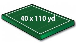 Standard Ultimate Field 40x70 yards with 20 yd Endzones (40x110 overall) - Port-a-field