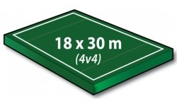 Ultimate 4V4 Field 18x30 Meters with 3 Meter Endzones - Port-a-field