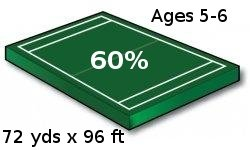 Youth Football Field - 60% Scale Size, Ages 6 and under - Port-a-field