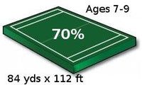 Youth Football Field - 70% Scale Size, recommended for ages 7-9 - Port-a-field