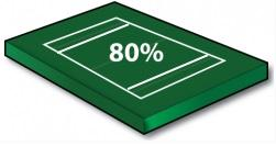 Youth Football Field (80% Scale Size) PLUS Goal Lines! - Port-a-field