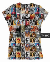 Frida Kahlo Famous Portraits Graphic Tee Shirt - Cielito Lindo Mexican Boutique