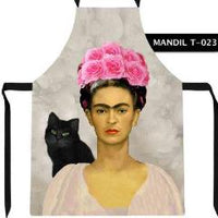 Frida Kahlo and Black Cat Apron - Cielito Lindo Mexican Boutique
