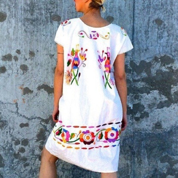 Cuernavaca Embroidered Dress - Cielito Lindo Mexican Boutique