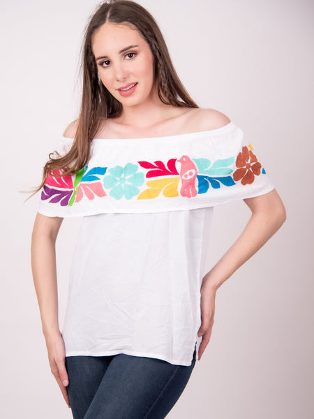 Mexican Jalapa Off the Shoulder Blouse