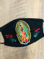 Accsessories Black La Guadalupana Face Masks