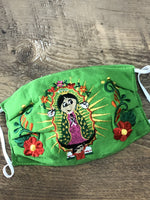 Accsessories Lime Green Virgencita Face Masks
