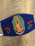 Accsessories Royal Blue La Guadalupana Face Masks