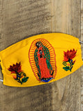 Accsessories Yellow La Guadalupana Face Masks