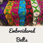 Mexican Embroidered Belts Floral Colorful - Cielito Lindo