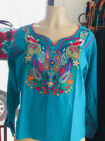 Blouses Peacock Top Teal