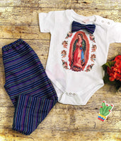 Boys Our Lady of Guadalupe Onesie and Pants Set for Boys