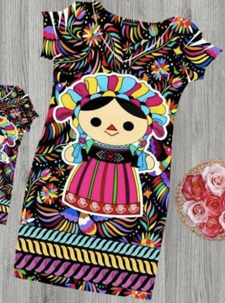 Otomi Doll Dress Bodycon - Cielito Lindo