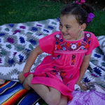 Mexican Dress for Girls Hot Pink - Cielito Lindo