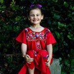 Mexican Dress for Girls Red - Cielito Lindo
