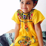 Mexican Dress for Girls Yellow - Cielito Lindo