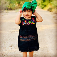 Girls Dress Black / 2T Oaxaca Dress