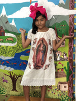 Girls Dress Mexican Printed Lady of Guadalupe Girls Dress and Headband Set