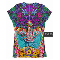 Frida Kahlo Graphic Tee T-Shirt Folklorico - Cielito Lindo Mexican Boutique