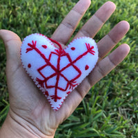 Christmas Heart Ornament - Cielito Lindo Mexican Boutique