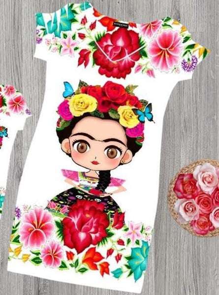 Frida Mexicana Dress Bodycon - Cielito Lindo