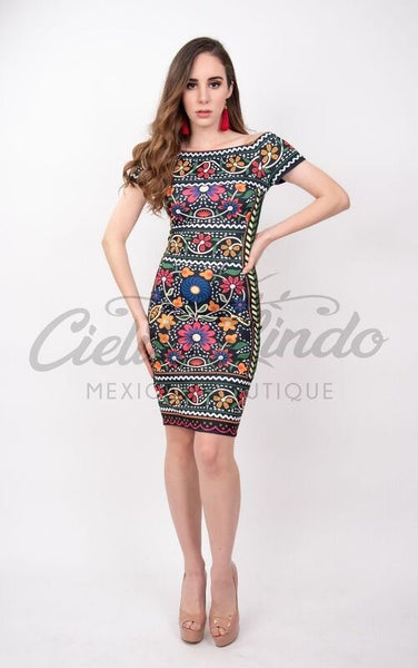 Fiesta Dress Black - Cielito Lindo Mexican Boutique