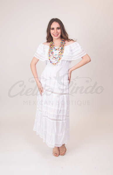 Adalia Dress White - Cielito Lindo Mexican Boutique
