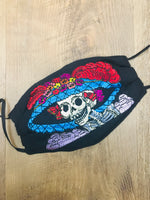Mexican Embroidered Catrina Face Mask