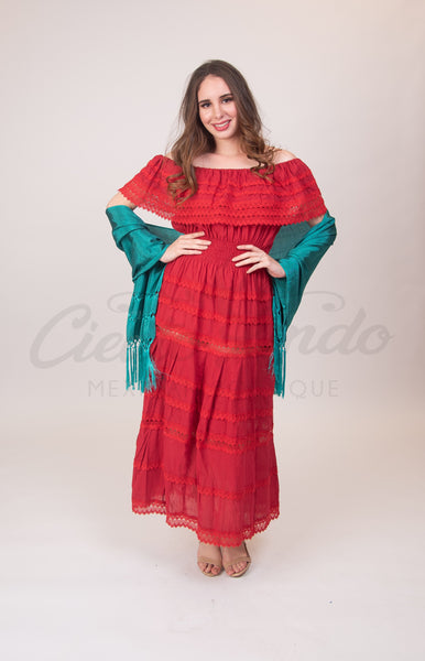 Adalia Dress Red - Cielito Lindo Mexican Boutique