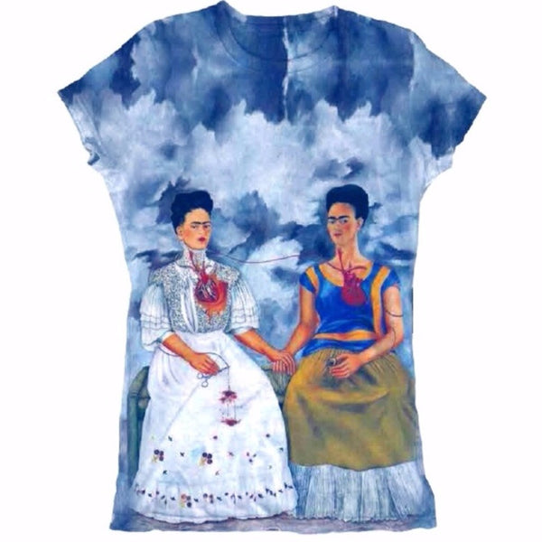 Frida Kahlo Graphic Tee Shirt - Las Dos Fridas - Cielito Lindo Mexican Boutique
