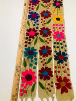 Floral Belt Handmade Beige - Cielito Lindo Mexican Boutique