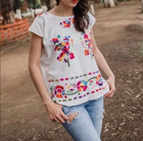 Cuernavaca Embroidered Blouse - Cielito Lindo Mexican Boutique