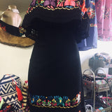 Azalea Campesino Embroidered Mini Dress - Cielito Lindo Mexican Boutique