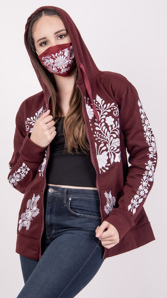 Aggies Zippered Embroidered Hoodie