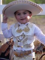 Charro Suit, Boots, Hat & Belt 8Pc Set - Cielito Lindo Mexican Boutique