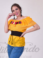 Campesina Off-Shoulder Yellow Top