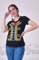 Charro Women's T-Shirt - Cielito Lindo Mexican Boutique
